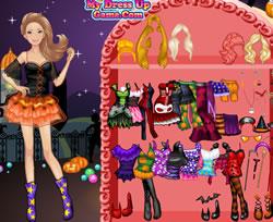 Barbis halloweenes öltöztetős
